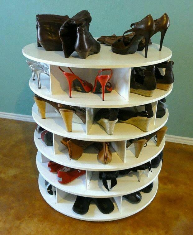 meuble chaussure qui tourne