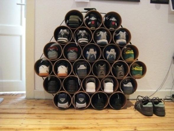 range chaussures en carton