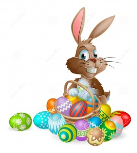 https://www.dreamstime.com/stock-image-easter-bunny-rabbit-easter-eggs-basket-image28786571