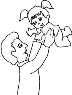 Dans les bras de mon père